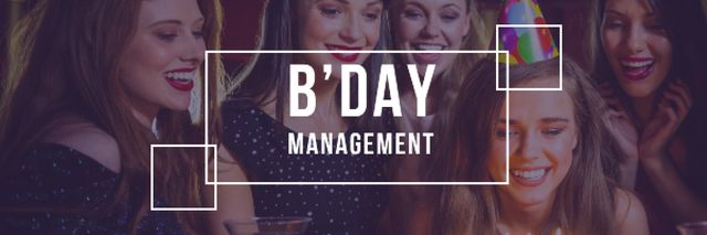 Birthday party Invitation Email header – шаблон для дизайну