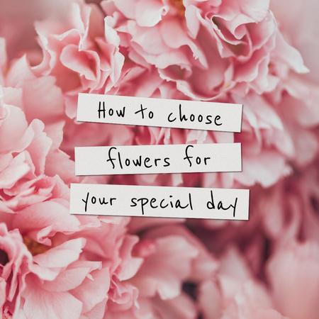 Plantilla de diseño de Tender Pink Peonies Flowers Instagram