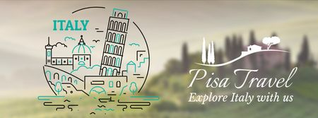 Template di design Pisa famous travelling spots Facebook Video cover