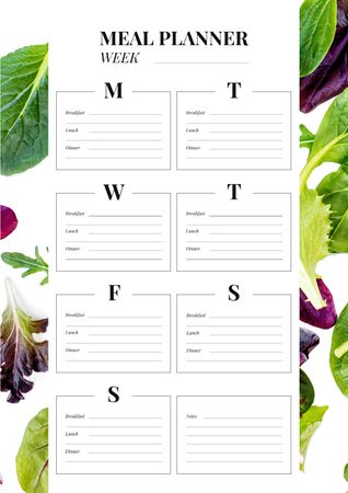 Ontwerpsjabloon van Schedule Planner van Meal Planner with Lettuce