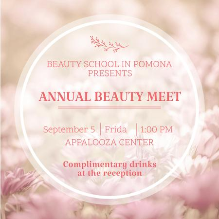 Beauty event announcement in pink frame Instagram AD Modelo de Design