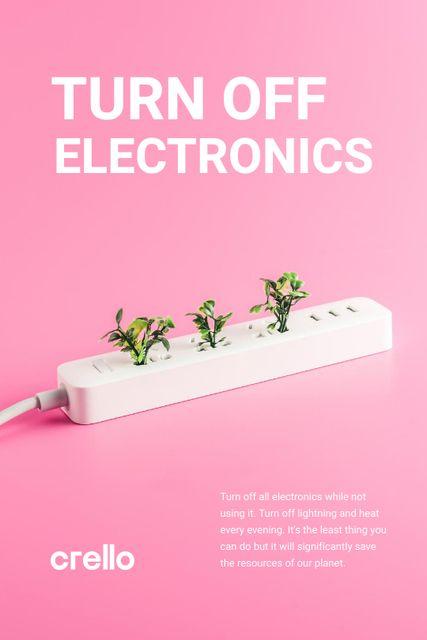 Szablon projektu Energy Conservation Concept with Plants Growing in Socket Tumblr