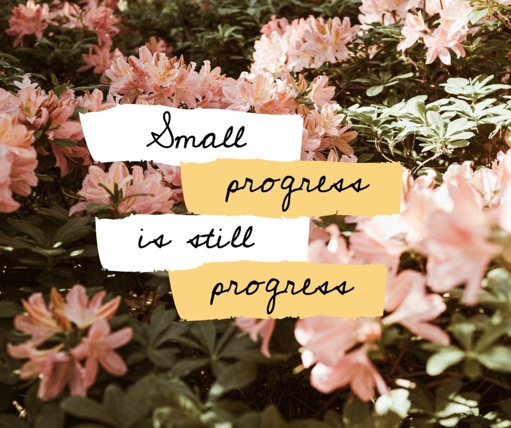 Mental Health Inspiration with Pink Flowers Facebook – шаблон для дизайну