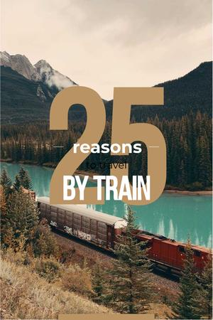 Designvorlage Train travel advantages für Pinterest