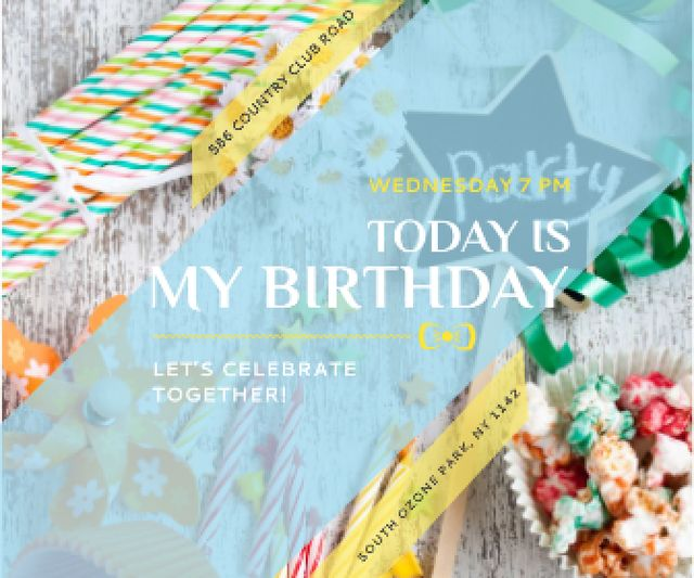 Birthday party in South Ozone park Large Rectangle Design Template