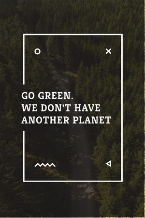 Template di design Citation about green planet Pinterest
