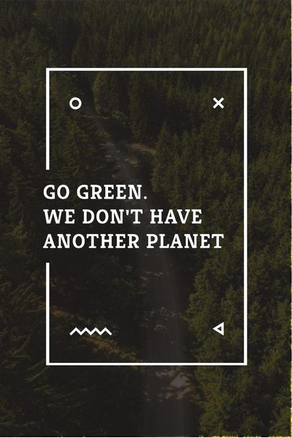Citation about green planet Pinterest Tasarım Şablonu