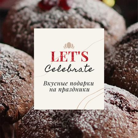 Winter Greeting with Sweet Chocolate Cookies Animated Post – шаблон для дизайна