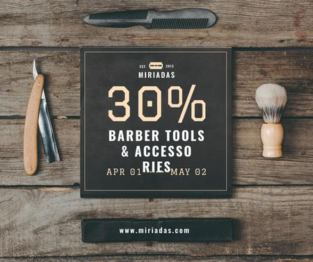 Barbershop Professional Tools Sale Facebook Modelo de Design