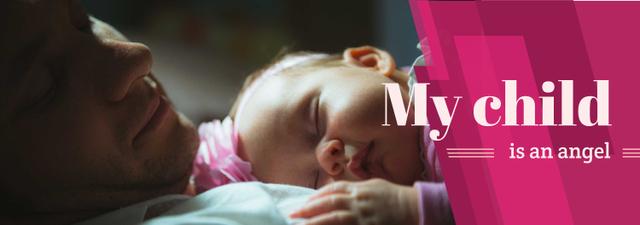 Ontwerpsjabloon van Tumblr van Baby Sleeping on Father's Chest