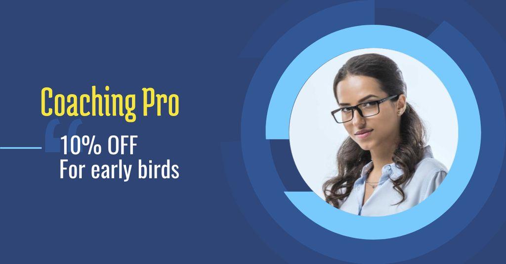Business Coaching Offer with Businesswoman — Crear un diseño