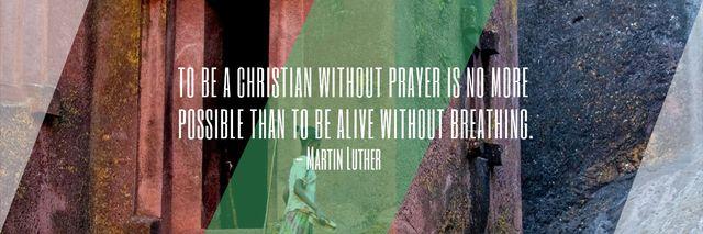 Religion citation about Christian faith Twitter Modelo de Design