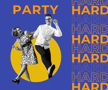 Plantilla de diseño de Party Mood Inspiration with Funny Dancing Couple Facebook