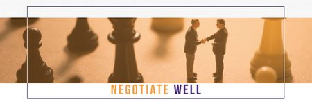 Designvorlage Business people shaking hands on chess board für Email header