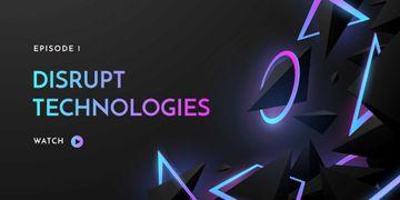 Digital Technologies ad on neon pattern