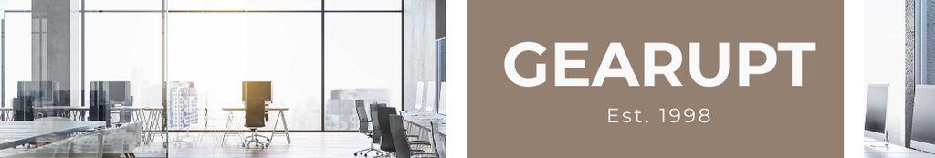 Business Company profile on Office interior — Modelo de projeto