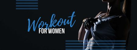 Ontwerpsjabloon van Facebook cover van Workout for Women with Athlete Woman