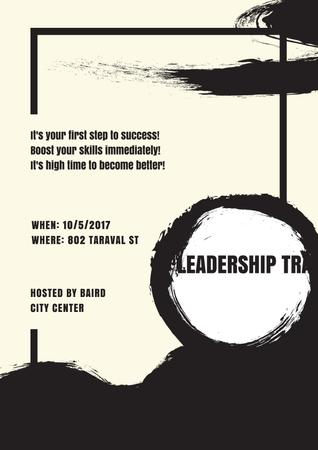 Leadership training in Bussines City Center Poster Modelo de Design
