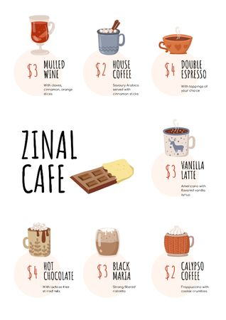 Cafe promotion with hot Drinks Menu – шаблон для дизайну
