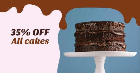 Chocolate cake sale offer Facebook AD Design Template