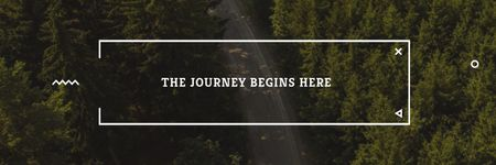 Plantilla de diseño de Travel Quote Forest Road View Twitter