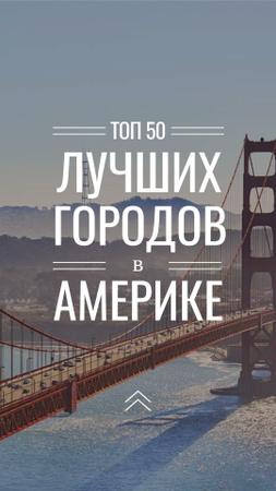 California Golden Gate view Instagram Story – шаблон для дизайна