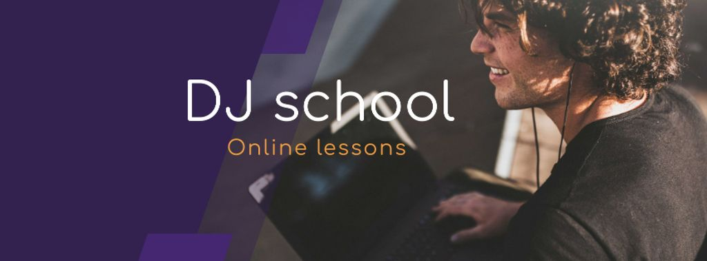 Online Courses ad Man typing on Laptop — Создать дизайн