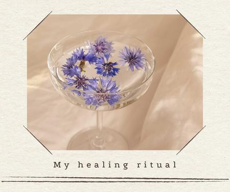 Astrology Inspiration with Flowers in Glass of Water Facebookデザインテンプレート