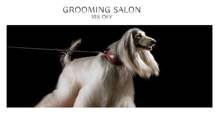Plantilla de diseño de Grooming Salon Discount Offer with Dog Facebook AD