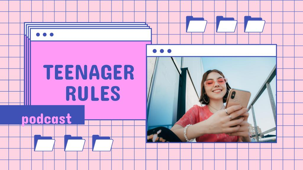 Podcast Topic Announcement about Teenagers Youtube Thumbnail Tasarım Şablonu
