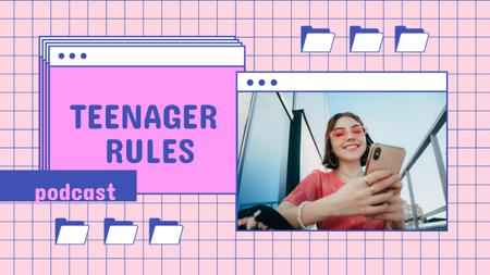 Podcast Topic Announcement about Teenagers Youtube Thumbnail – шаблон для дизайна