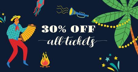 Modèle de visuel Cinco de Mayo tickets Offer - Facebook AD