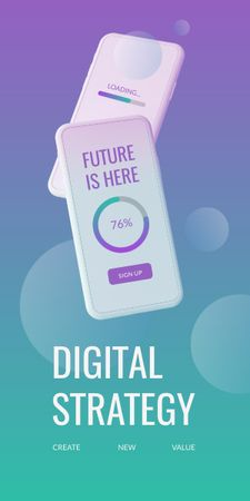 Modèle de visuel Digital Strategy with Modern Smartphone - Graphic