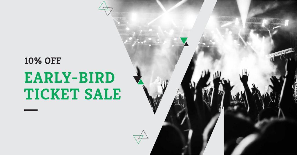 Tickets Sale with Crowd at Concert — Maak een ontwerp