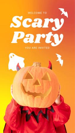 Designvorlage Announcement of Scary Party on Halloween für Instagram Video Story