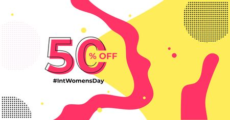 Women's Day Special Sale Offer Facebook ADデザインテンプレート