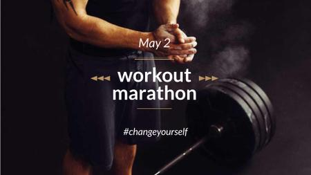Template di design Workout Marathon Announcement with Athlete FB event cover