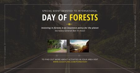 Plantilla de diseño de Special Event devoted to International Day of Forests Facebook AD