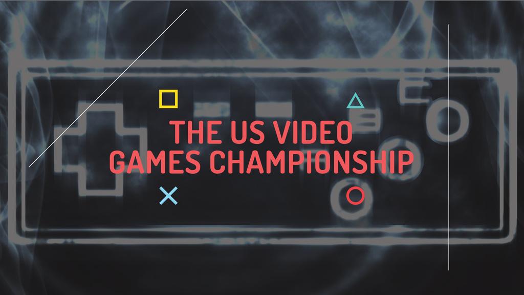 Video games Championship Announcement — ein Design erstellen