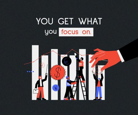 Designvorlage Business Success motivation with People by diagram für Facebook
