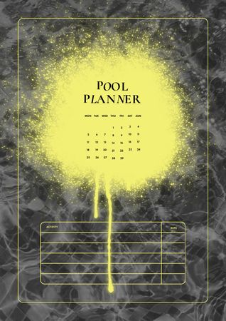Pool Monthly Planning Schedule Planner – шаблон для дизайна