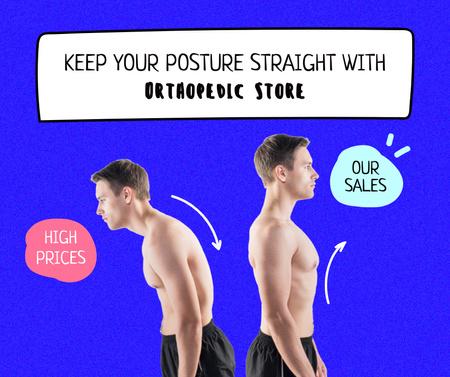 Funny Sale Promotion with Different Men Facebook Modelo de Design