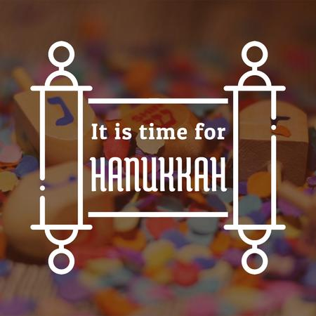 Plantilla de diseño de Happy Hanukkah dreidels Animated Post
