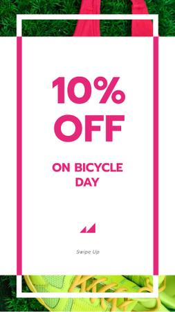 Bicycle Day Discount Offer Instagram Storyデザインテンプレート