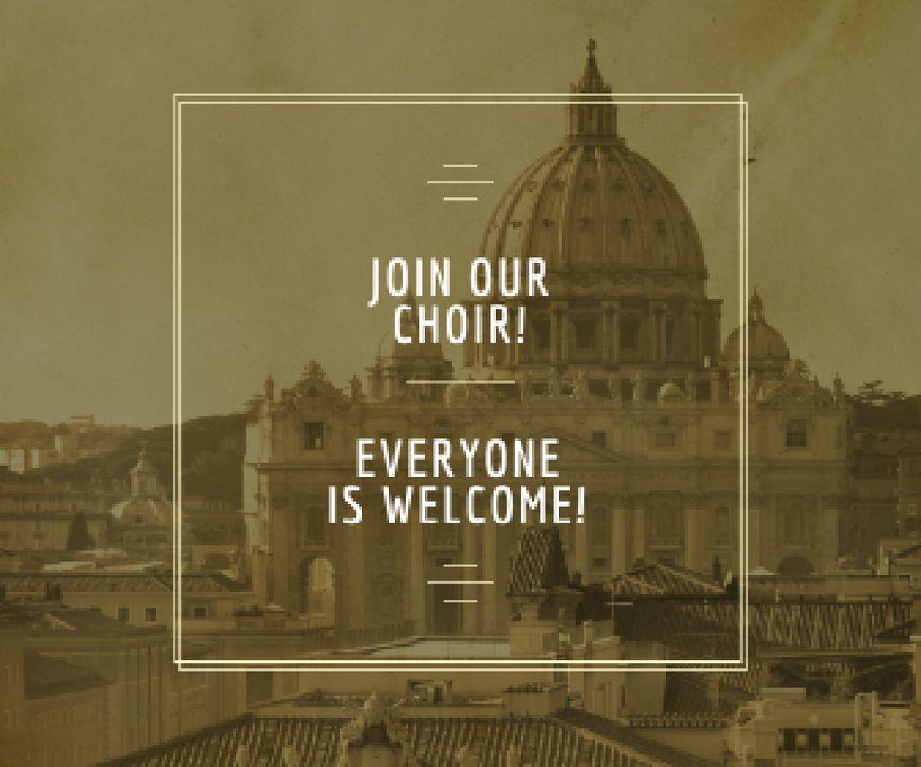 Invitation to religion choir — Create a Design