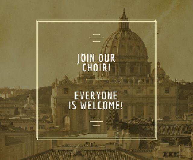Invitation to religion choir Large Rectangle Modelo de Design