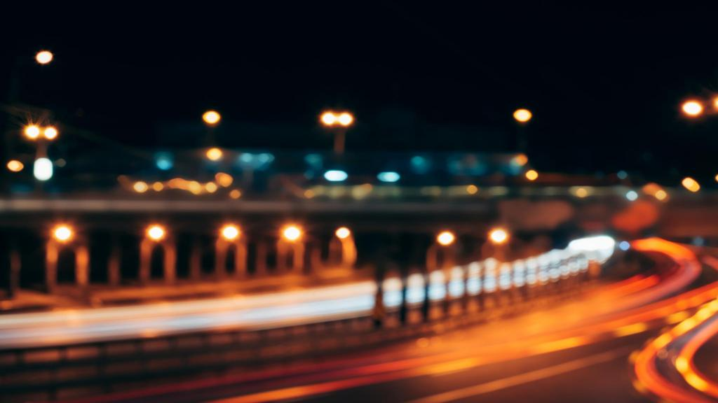 Glare lights of city Bridge — Create a Design