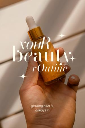 Skincare Ad with Cosmetic Serum in Hand Pinterest – шаблон для дизайна