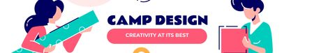 Template di design Creative People at Design Camp LinkedIn Cover
