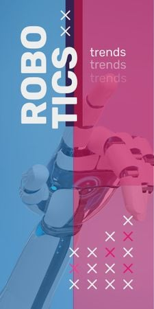 Android robot hand Graphic Design Template